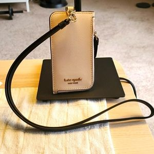 Kate Spade Card Case with detachable lanyard